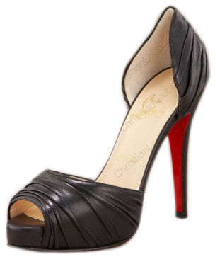 Christian Louboutin Ruched Platform Pump Black