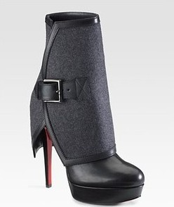 Christian Louboutin Armony Ankle Boots With Removable Cuff