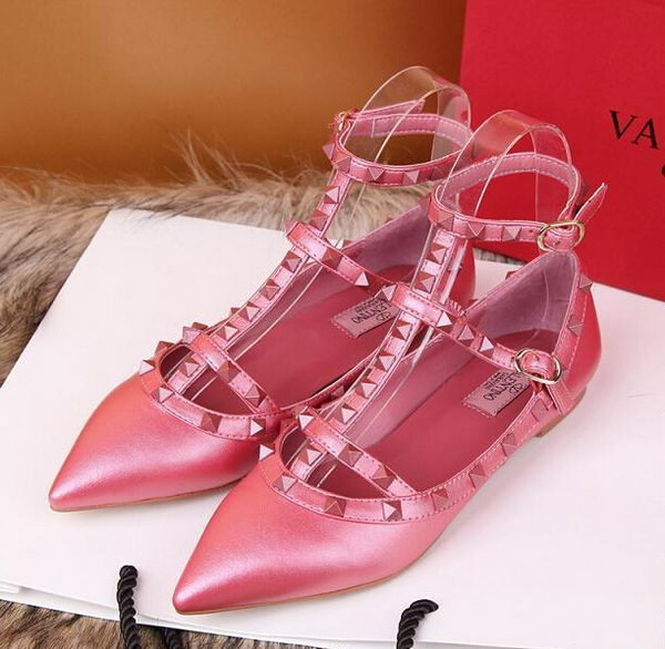 Valentino Smooth Leather Rivet Sandal VT228YZM Rosy