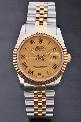 Rolex Datejust Rose Gold Stainless Steel Watch-RD3811