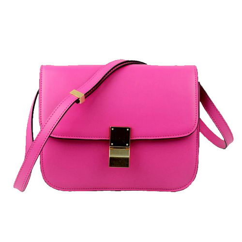 Celine Classic Box Small Flap Bag Calfskin C88007 Rosy