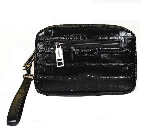Burberry Croco Leather Mens Clutch 7882 Black