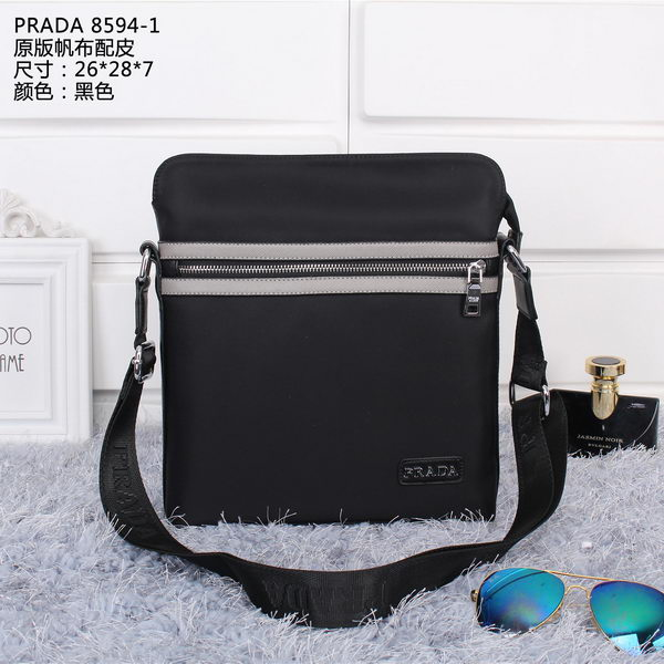 Prada Vela Fabric Messenger Bags P85941 Black