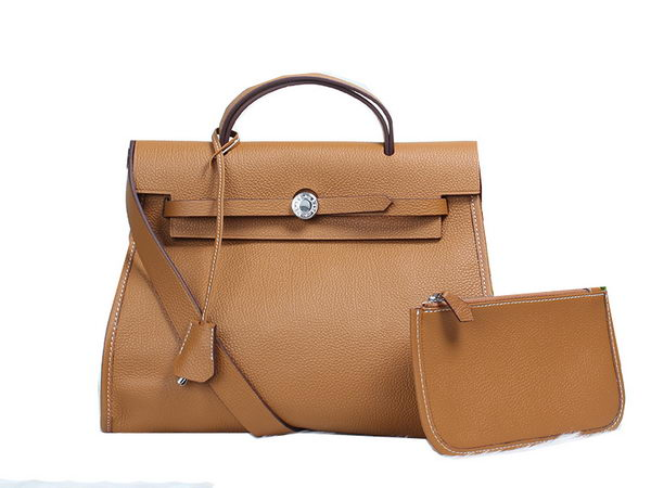 Hermes HerBag in Togo Leather Wheat