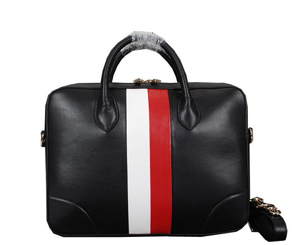 Gucci Smooth Leather Business Briefcase 285455 Black