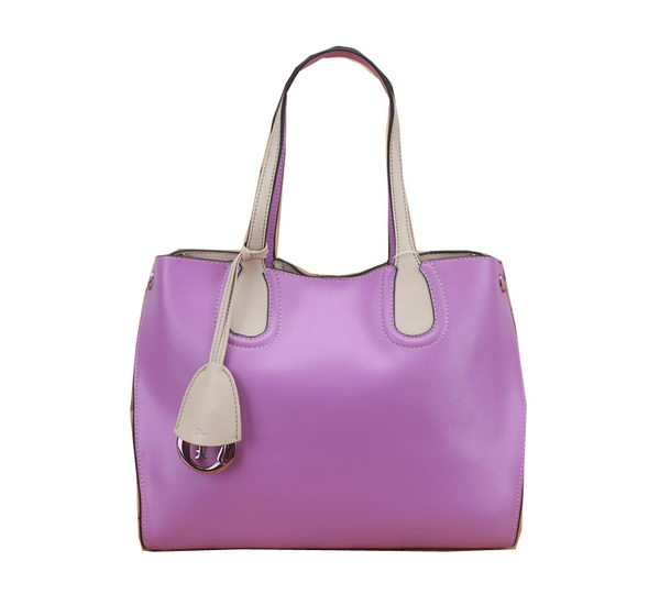 Dior ADDICT Bag Two-Tone Calfskin Leather D0832 Purple