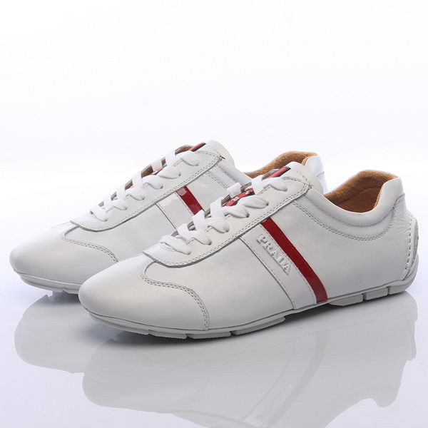 Prada Calf Leather Men Shoe PD311 White
