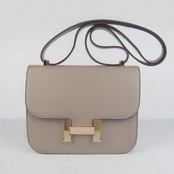 Hermes Constance Bag Grey Oxhide Leather Gold
