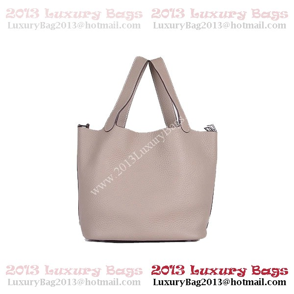 Hermes Picotin Lock PM Bag in Clemence Leather 8615 Gray