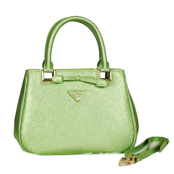 Prada Fluorescence Leather Tote Bag BN2245 Green