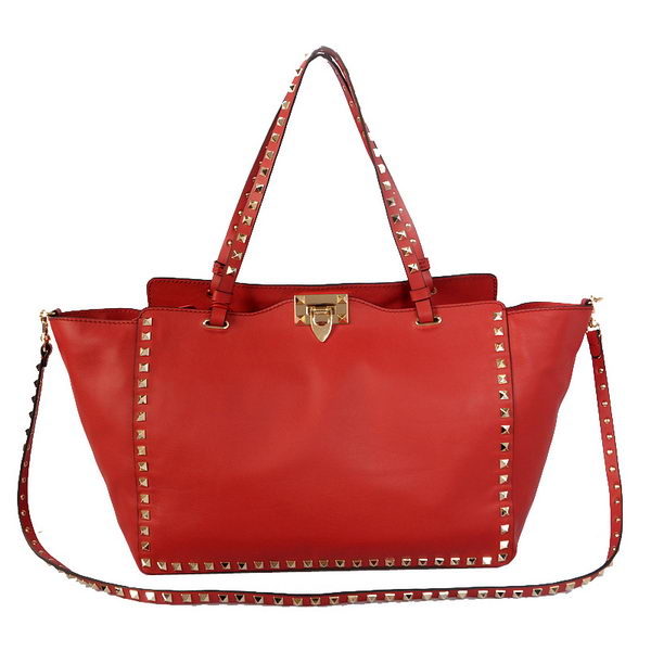 Valentino Garavani Rockstud Medium Tote Bag VO1917 Red
