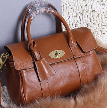 Mulberry Bayswater Small Tote Bag Natural Leather 5988S Brown