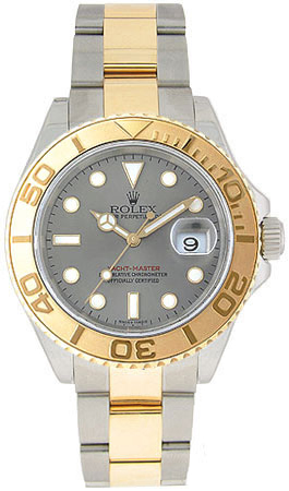 Rolex Yachtmaster Series Elegant Mens Automatic 18kt Yellow Gold Unidirectional Rotating Wristwatch 16623-GYSO