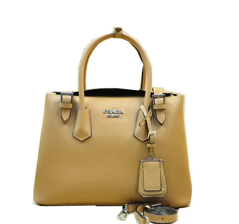 Prada Original Leather Tote Bag BR5071M Apricot