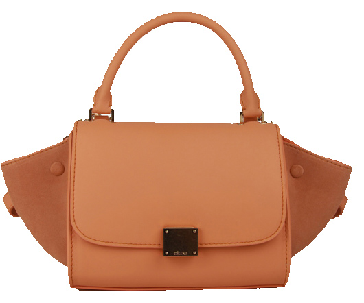 Celine Nano Trapeze Bag Nubuck Leather C88038 Orange