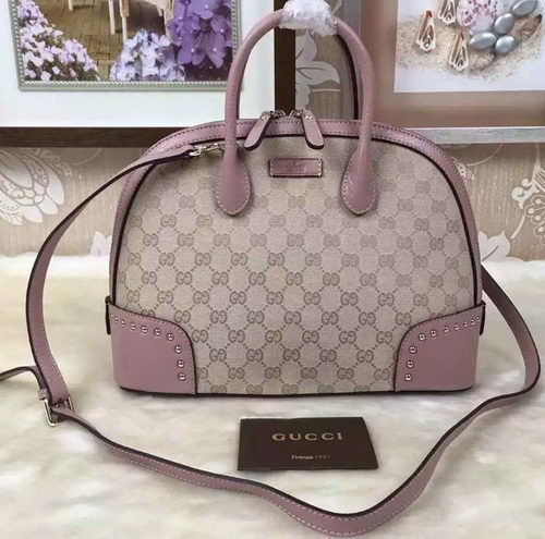Gucci Original GG Canvas Top Handle Bags 384688 Light Pink