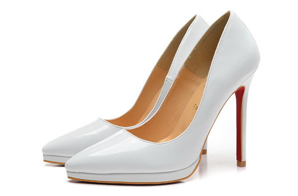 Christian Louboutin Patent Leather 120mm Pump CL1449 White