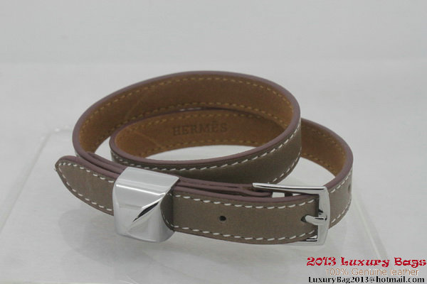 Hermes Genuine Leather Bracelet H1142_14