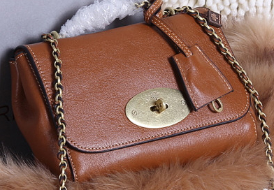 Mulberry Lily Small Grain Leather Evening Bag 7779S Brown