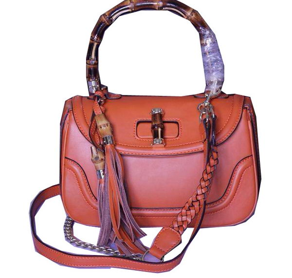 Gucci New Bamboo Top Handle Bags 240242 Orange