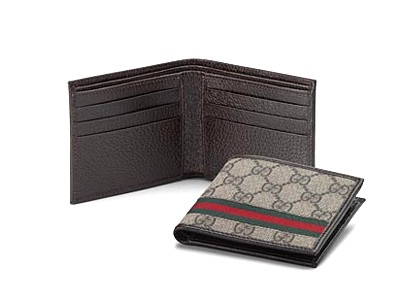 Gucci Bi-Fold GG Leather Wallet 138042 Grey