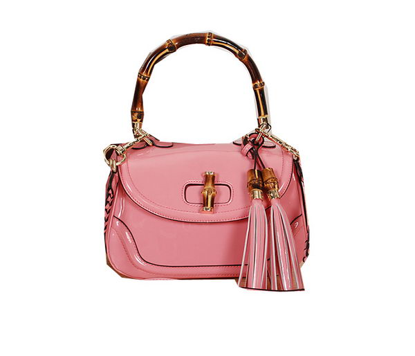 Gucci New Bamboo Medium Top Handle Bag 240242 Pink