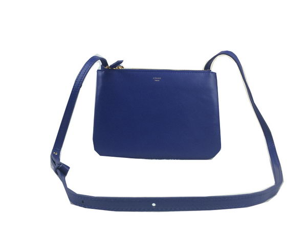 Celine Trio Original Leather Shoulder Bag C98317 Blue