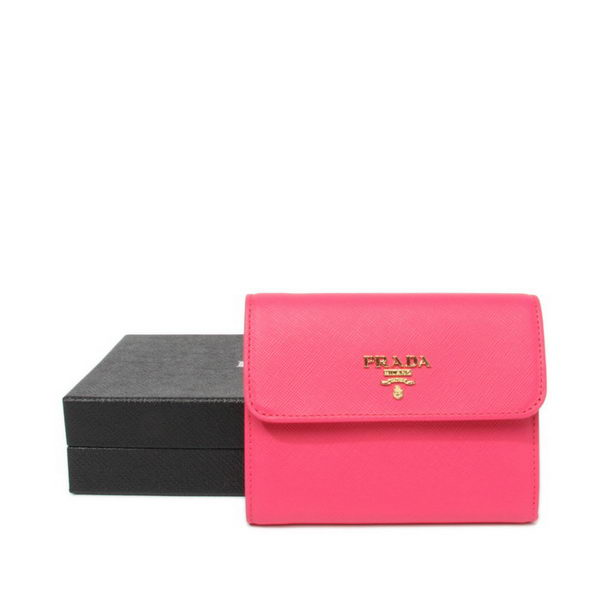 Prada Saffiano Leather Wallet 1M0170 Rose