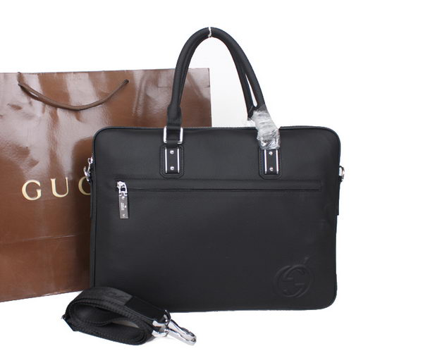 Gucci Calf Leather Business Briefcase M51081 Black
