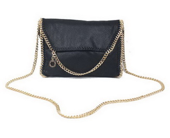 Stella McCartney Falabella Black PVC Cross Body Bag 875 Gold
