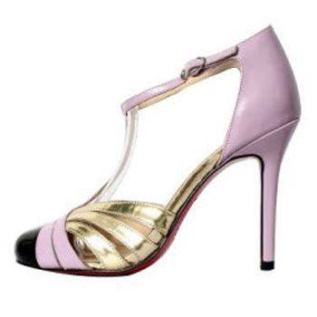 Christian Louboutin Gino 100 T Bar Sandals Purple