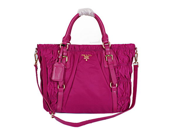 Prada Gaufre Fabric Top Handle Bag BN1793 Purple