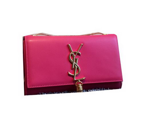 YSL Monogramme Cross-body Shoulder Bag Smooth Leather Y311218 Rose