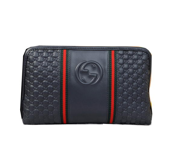 Gucci Guccissima Leather Mens Clutch G2132 Royal