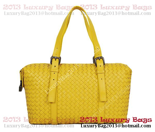 Bottega Veneta Krim Intrecciato Light Calf Bag 1048S Lemon
