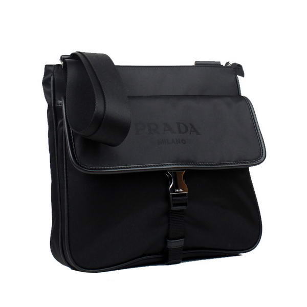 Prada Vela Fabric Messenger Bag BT0269 Black