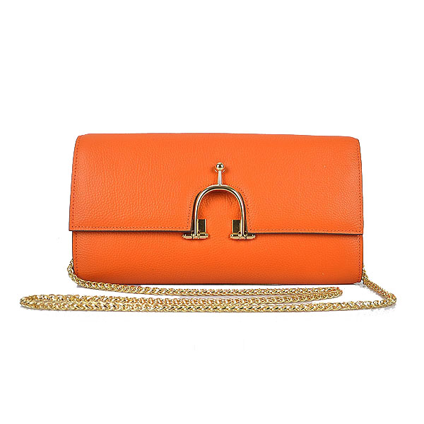 Hermes 2012 Smooth Calf Leather Shoulder Bag Orange