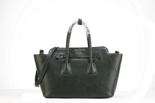 PRADA Original Soft Calf Leather Tote Bags BN2673 Green