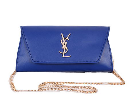 Saint Laurent Small Betty Bag Calf Leather Y7139 Royal
