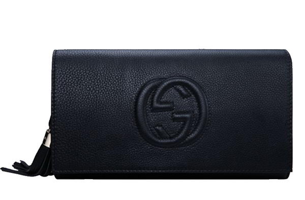 Gucci Soho Original Leather Clutch 336753 Black
