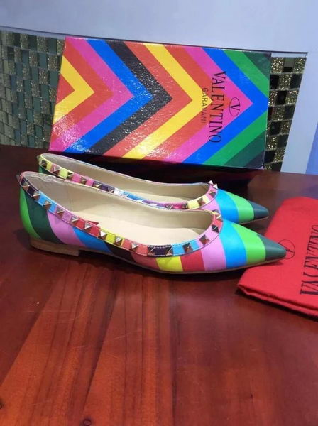 Valentino Multicolour Leather Flat VT357GY