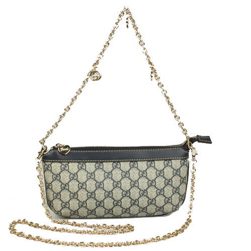 Gucci GG Fabric Evening Shoulder Bag 280068 Blue