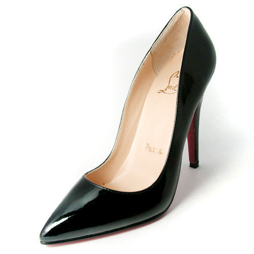 Christian Louboutin Black Leather Patent Pigalle Pumps