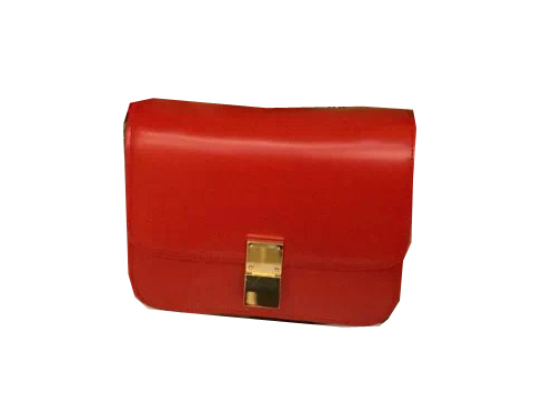 Celine Classic Box Small Flap Bag Smooth Leather C3347 Red