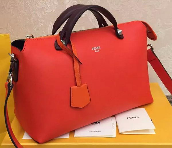 Fendi BY THE WAY Bag Calfskin Leather F55208 Orange