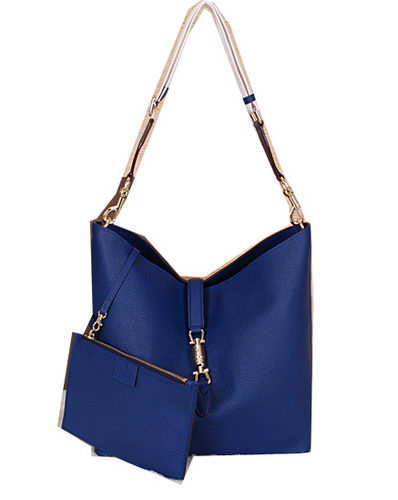 Gucci Jackie Grainy Leather Hobo Bag G3525 Blue