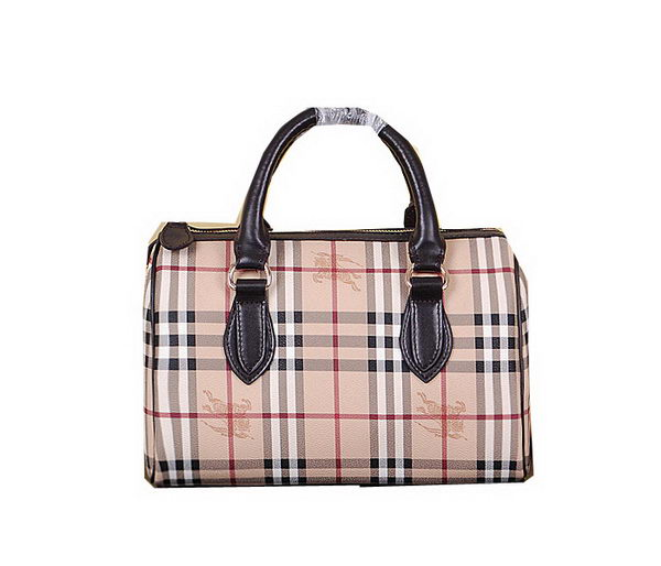 Burberry Medium Haymarket Check Bowling Bag 7903 Brown