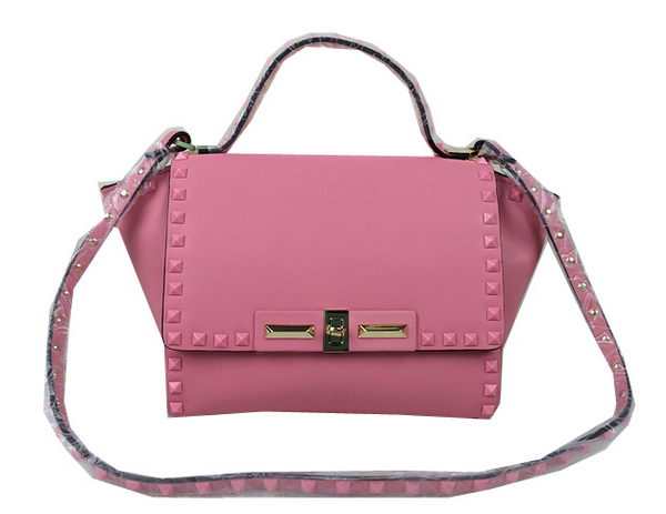 Valentino Garavani Rockstud Shopping Bag Calfskin Leather VO1922M Pink