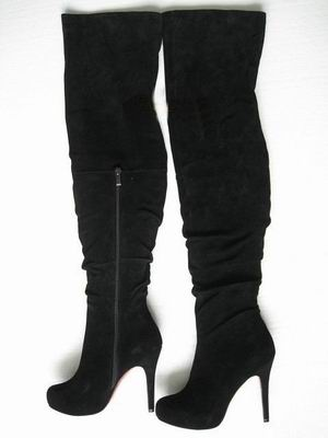 Christian Louboutin Suede over knee boots
