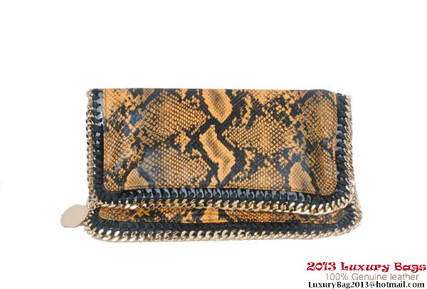 Stella McCartney Falabella Snake Fold Over Clutch 812S Yellow